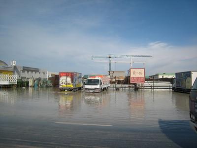 Flooding in Al Quoz.