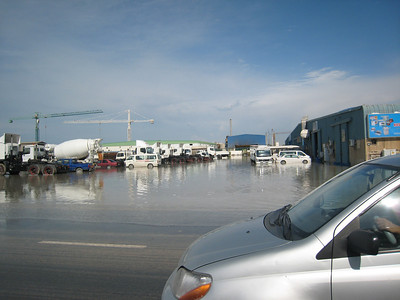 Flooding in Al Quoz.