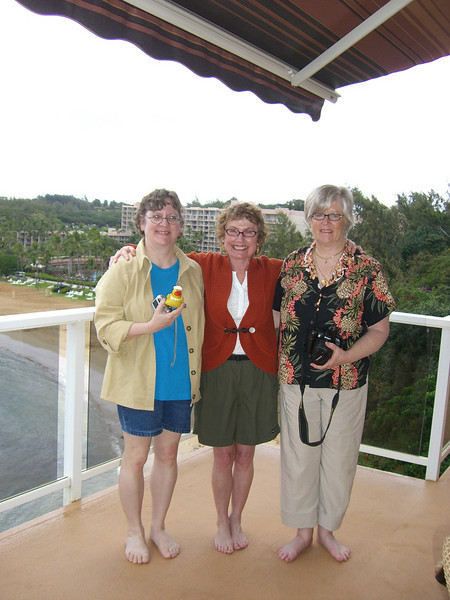 Here is Duck, Mom, Barb, and Patty.  Obviously, they are trying to reassure him he's still in the US.  Otherwise, these photos would have to be in a different catagory.