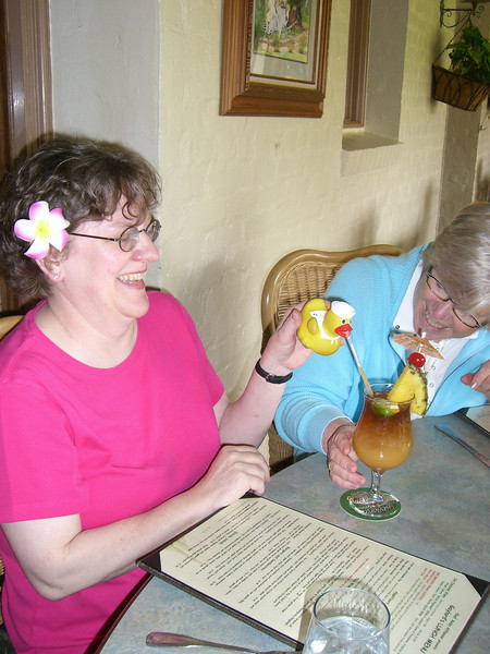 Duck was parched, so he and Mom shared a Mai Tai while Margie looked on.  She couldn't believe how much he drank on this trip.  Mom said, see the other photos in this gallery to see how his love of alcohol progresses.  Also, see his Europe gallery too.