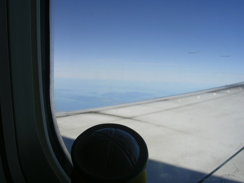looking out over the wing