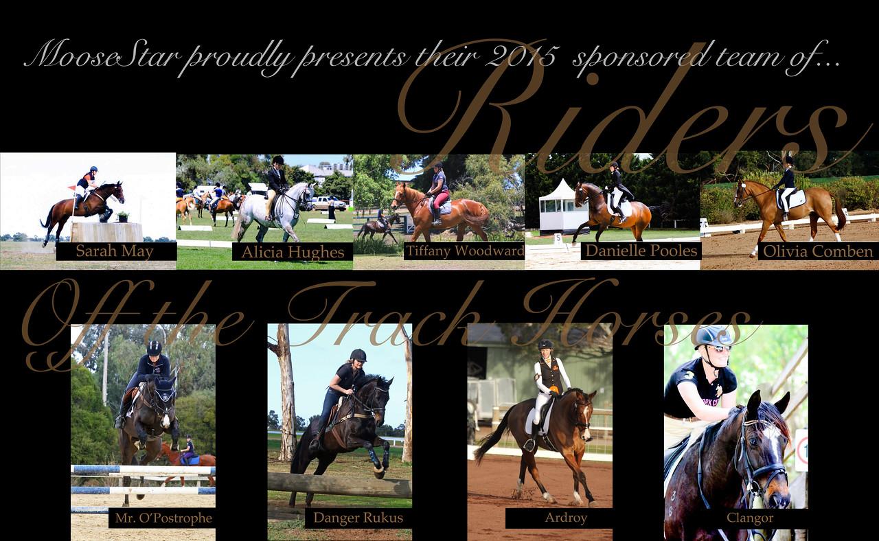 MooseStar sponsored riders Website advets