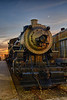 Locomotive 555 at Sunset