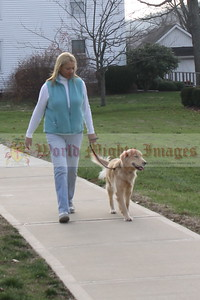 Mary T.  and Gidget out for a stroll.