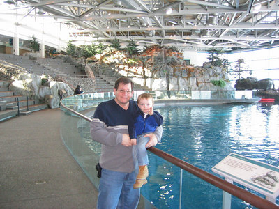 Photo's from Seans first trip to the John G. Shedd Aquarium in Chicago with Uncle Greg, Papa Consier, and Grandma Consier.