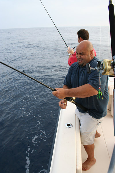 Al's first fish was one of the biggest!