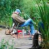 Fisherman at Duttons Pond, Flixton