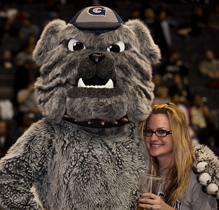 Georgetown Hoyas mascot and friend
