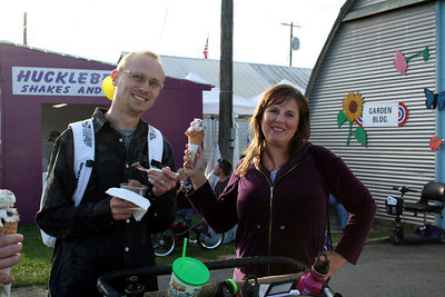 Patrick & Lorinda enjoyed their ice cream at the fair.