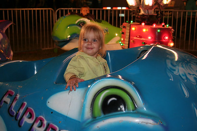 Makenna loved the whale ride.