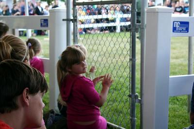 Anissa watching the K9 show.