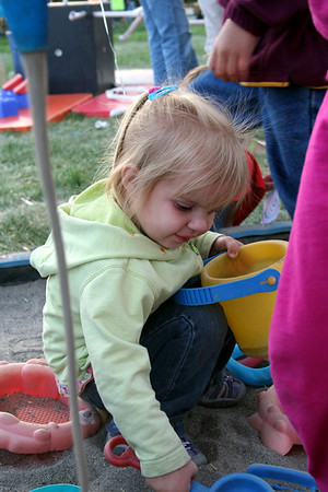 Makenna enjoyed playing in the sand box at the 2010 fair.