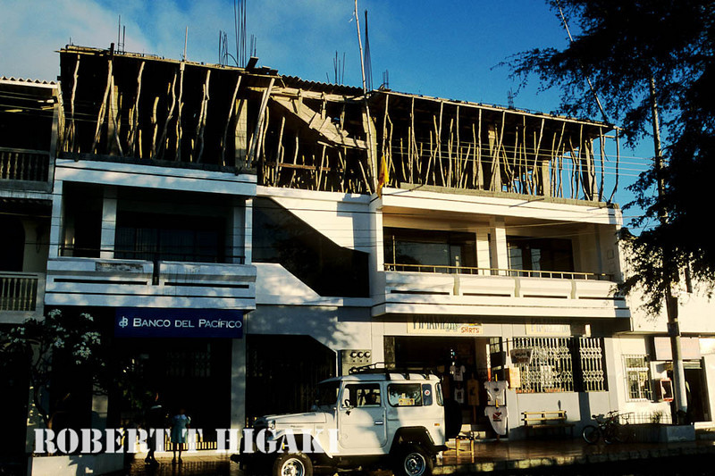 Construction in Puerto Baquerizo Moreno- you wonder about the quality of work.( San Cristobal)