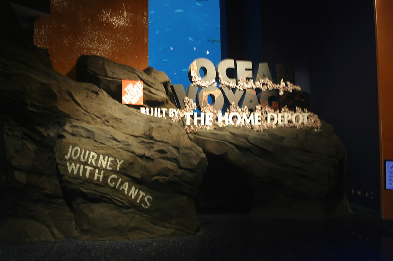 When ever I go someplace to take pictures, I usually try to take a picture of the entrance sign.  The aquarium is divided into distinct sections, so I took a picture of each entrance.