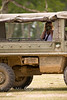Getting my picture taken from some crazy woman in a Pinzgauer - Global Wildlife Center, Louisiana