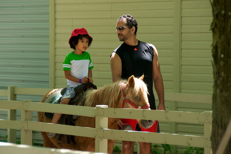 Jaden's turn on the poney