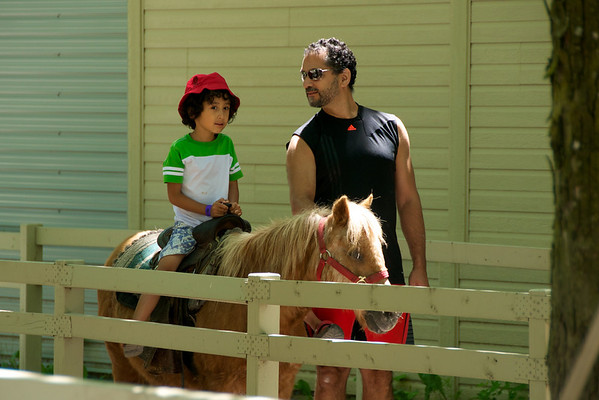 Jaden's turn on the poney