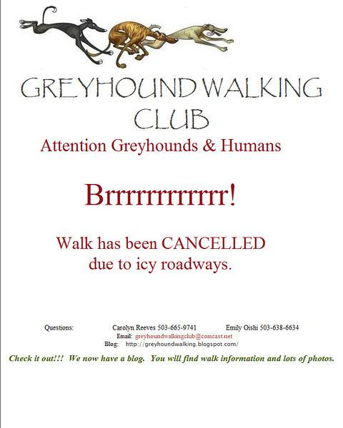 Greyhound Walking Dec Cancelled