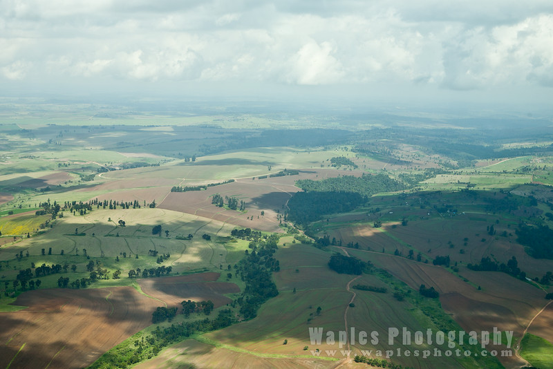 Heavily cultivated Kenyan Highlands