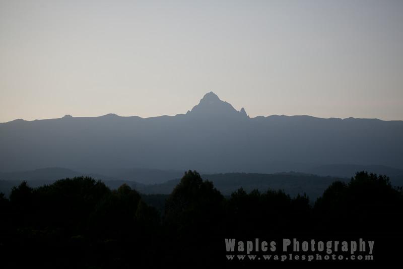Mount Kenya in the Morning Mist