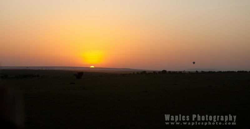 Sunrise on the Maasai Mara