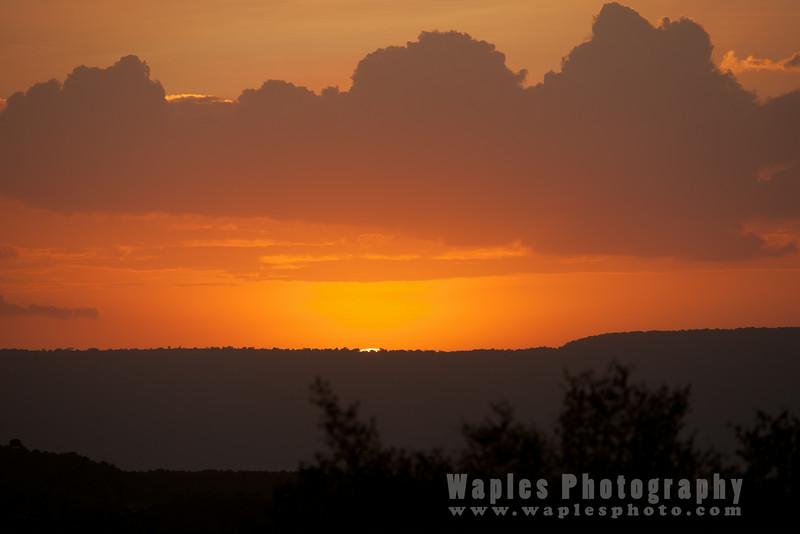 Fantastic Sunset over the Maasai Mara