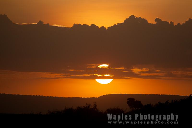 Setting Sun over the Maasai Mara