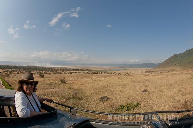 Mary in the Ngorongoro Crater