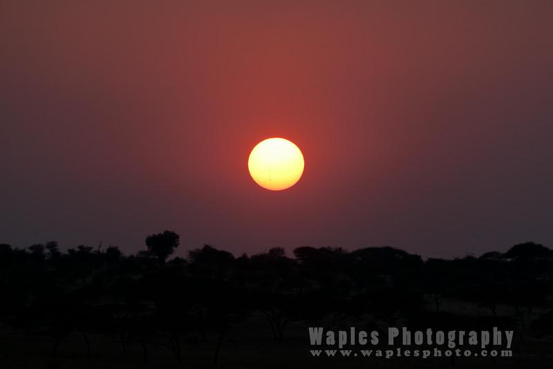Half past six, sunset