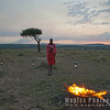 Maasai Guide at Sunset