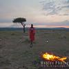Maasai Guide at Sunset