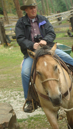 Dad rode Bailey.