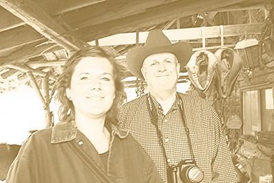 Lorinda & Dad. A real old west photo op.
