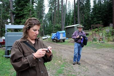 Lorinda & Dad getting their cameras ready.
