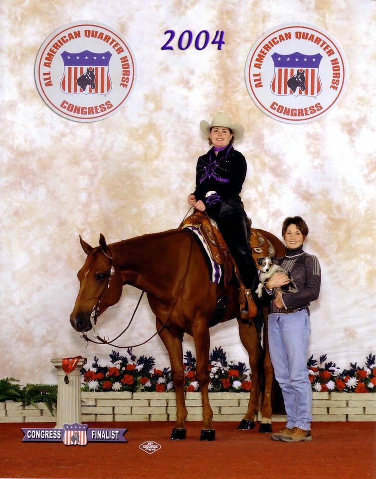 2004 Quarter Horse Congress-Finalist Novice Amateur Horsemanship<br /> Diversified Frost