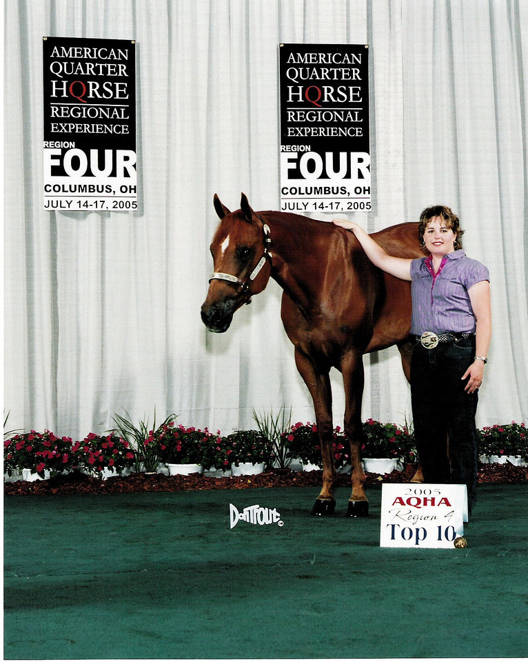 2005 Regional Experience-Region 4.  10th place Novice Amateur Hunter Under Saddle.<br /> Diversified Frost.