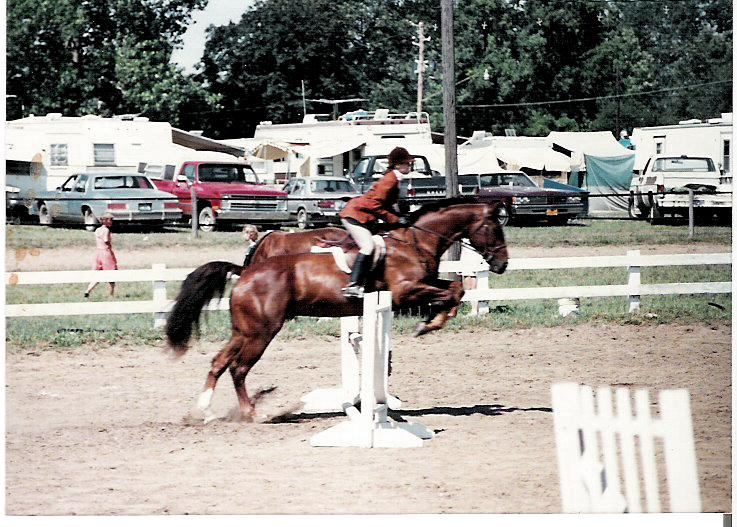 Imperial Royal-Working Hunter over Fences.  Branch County Fair 1988.