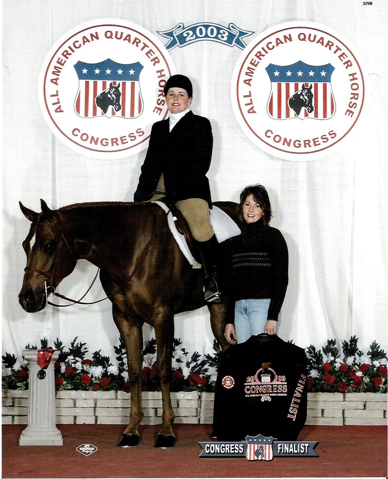 2003 Quarter Horse Congress-Finalist Novice Amateur Equitation<br /> Diversified Frost