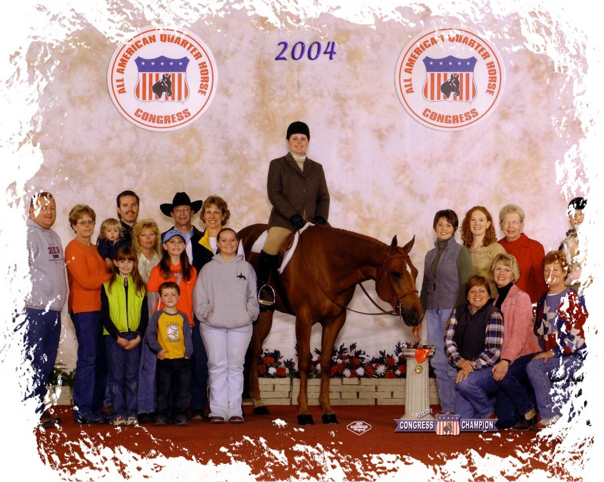 2004 Quarter Horse Congress-Reserve Champion Novice Amateur Equitation.