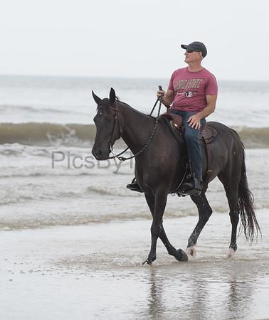 Horseback riding on Hammock Beach, FL on Jul 1, 2017
