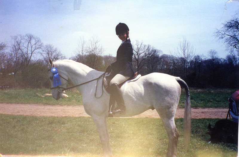 Kate on DC (Arab gelding)  at Bethany Horse Show 2002<br /> 1st Place!