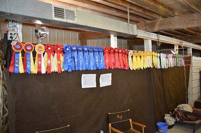 Some of the awards won at the show.