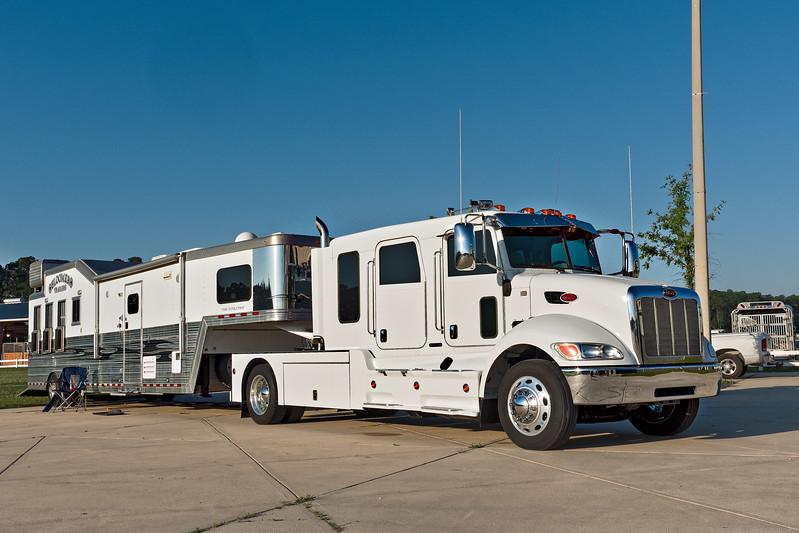 Peterbilt Truck and Bloomer Horse Trailer