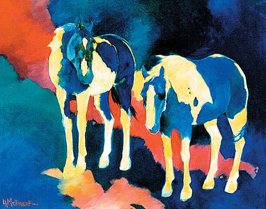 Two Paint Horses