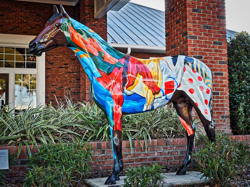 "Horse Fever statue, ""Champ"""