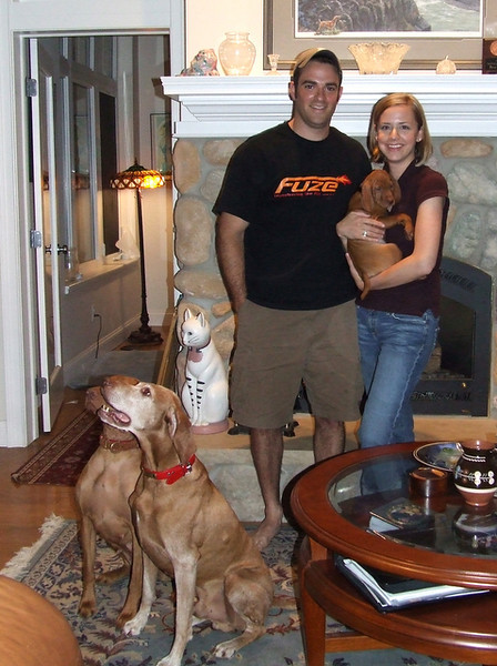 "Introducing Toldin's Flying High ""Cooper"" and his new family,<br /> Scott and Mary"