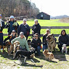 The group walk at Seven Islands. We posed up for a photo to be used in the Outdoor section of the Knox News Sentinel and Kenda cruised by at just the right moment. 02/17/13