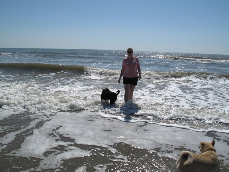 Kenda's first trip to the beach - Folly Island, SC 13 March 2011