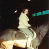 1983 taking a lesson at a riding stable in Easton, CT
