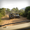 """The landcruisers are custum built with 2 gas tanks, industrial shocks and are air/dust tight-when not in """"game-drive mode."""""""